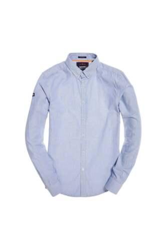 Superdry Premium Button Down Shirt Sky Basket Stripe