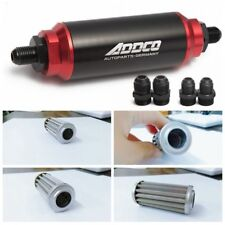 Universal Racing 40 Micron In Line Fuel Filter With An 6 8 10 Fittings Adapters