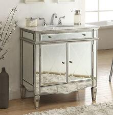 "32"" Carara Marble mirrored reflection Ashmont Bathroom sink vanity N744-911"