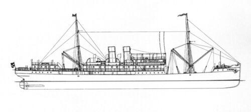 Modellbauplan 1905 Kombifrachtschiff PRÄSIDENT