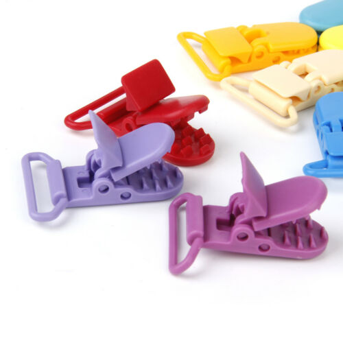 10 Resin Suspender Paci for Soother Pacifier Dummy Bib Toy Clips KAM Plastic