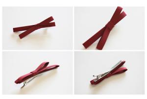 New-Cute-amp-amp-Fashion-Women-Bowknot-Hairpin-Barrette-Headband-Hair-Accessory-Red