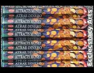 Hem-Attracts-Money-Incense-20-Stick-Box-x-5-100-Sticks-Wealth-NEW