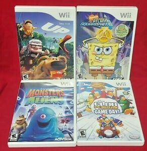 Nintendo-Wii-amp-Wii-U-Nickelodeon-Disney-Game-Lot-Spongebob-UP-Monsters-Penguin