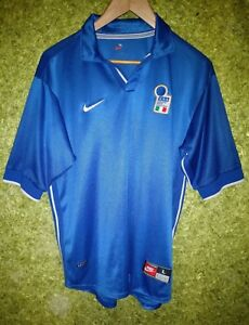 online store 28892 815ac Details about ITALY NATIONAL FOOTBALL TEAM HOME 1997 1998 SHIRT SOCCER  JERSEY NIKE SIZE L