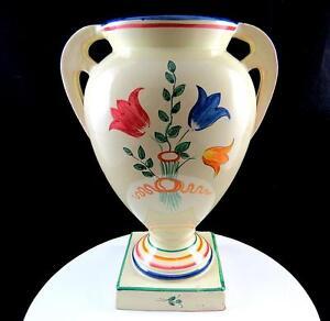 Perugia Italie 2954 Motif Floral Base Carré 10 0.6cm à Poignées Urne Vase DIIOkkJB-09120207-773200767