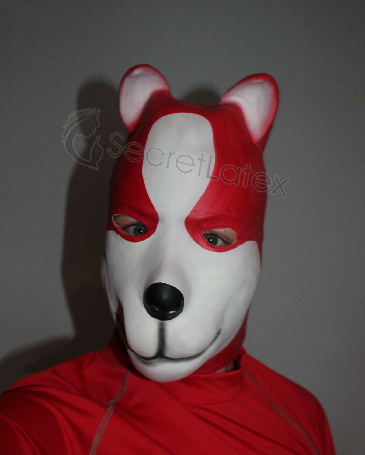 Latex Puppy Hood Heavy Rubber Dog Full Head Pet Play Cosplay Canine  Mask