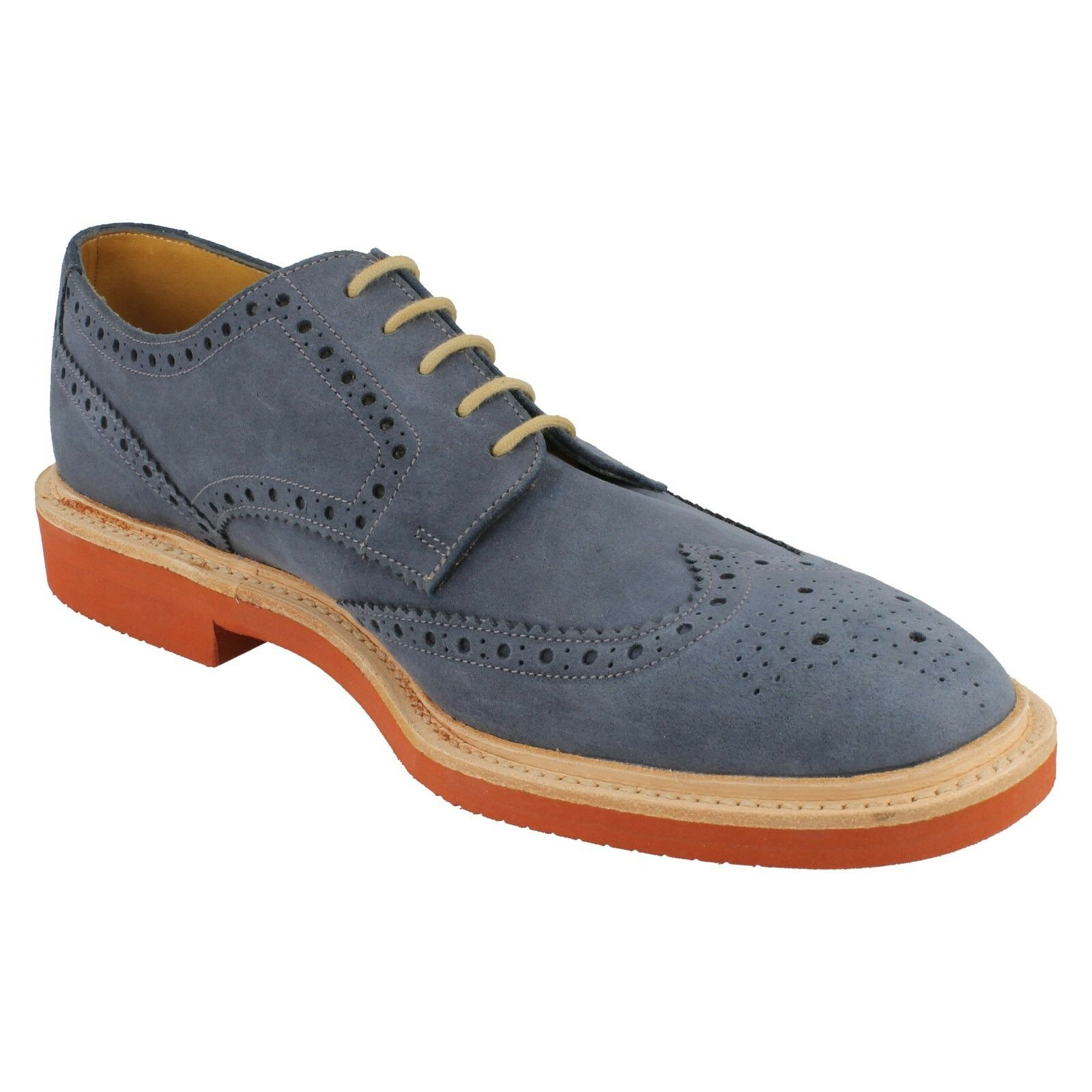 Mens Loake Oiled Suede Leather Formal Lace Up Formal Leather Brogue schuhe Logan Größe 6 & 6.5 f4d196