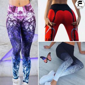 4f27f0d7ffeb7 Image is loading Womens-Sports-YOGA-Workout-Gym-Fitness-Leggings-Pants-
