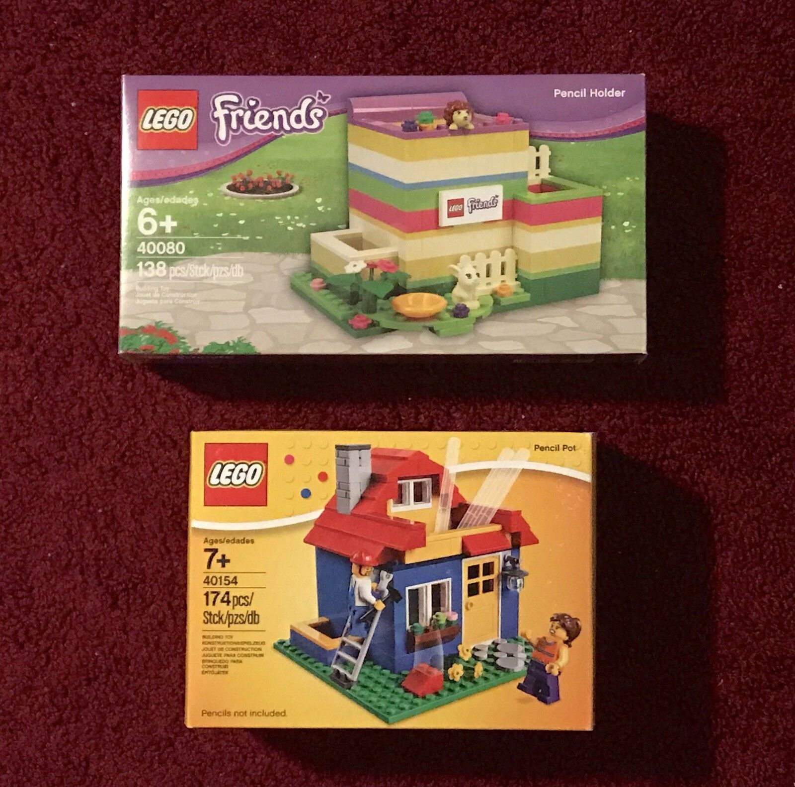 Lego Nuovo Friends Pencil Holder 40080,City Pencil Pot House Set 40154