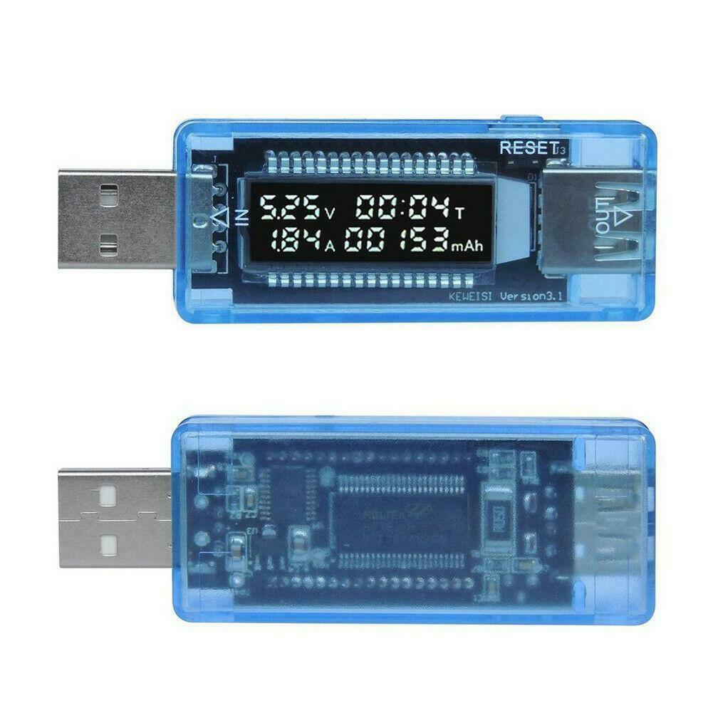2PCS OLED USB Charger Capacity power Current Voltage Detector Tester Meter Case