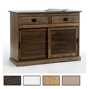 Anrichte Sideboard Kommode Holzkommode 2 Schiebeturen 2 Schubladen