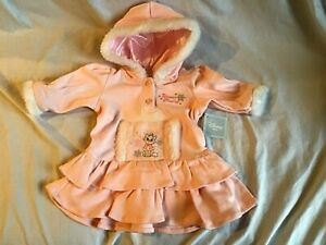 DISNEY-BABY-ARISTOCATS-MARIE-Dress-Pastel-Pink-amp-White-Faux-Fur-3-6-Months-NWT