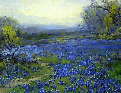 Onderdonk morning in the bluebonnets Art A2 or A3  giclee Print Picture