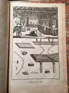 Enciclopedie-Diderot-1752-1770-Manufacture-des-glaces-Specchi-47-tavole