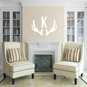 Details About Antlers Custom Monogram Wall Decal Kid S Hunting Personalized Nursery Art