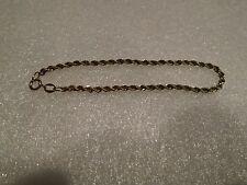Danecraft 7 Inch Gold Toned Sterling Silver Rope Bracelet