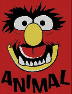 Drummer pattern Cross stitch chart Sesame Street Animal Muppets St.
