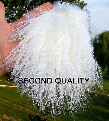 M00055 MOREZMORE Tibetan Lamb Fur OOAK Doll Baby Hair Wig SNOW WHITE SECONDS