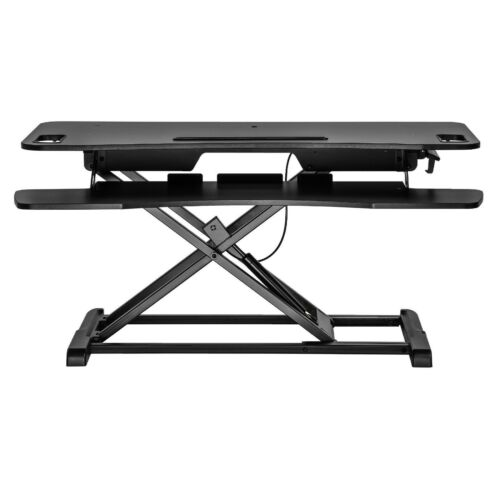 """37/"""" Dual Monitor Adjustable Height Desk Riser Tabletop Sit to Stand Workstation"""
