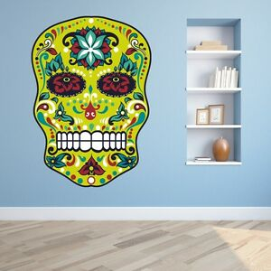 Image Is Loading Fl Sugar Skull Day Of The Dead Full