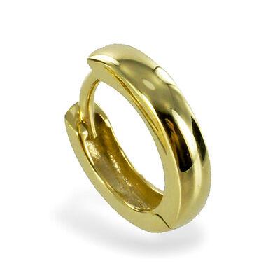 ECHT GOLD *** Kleine Herren Single-Creole 12 mm Ø *** Ohrring schlicht glänzend