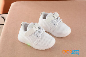 New Fashion Toddler Boys Girls Casual Shoes Kids Mesh Breathable Shoes Lights