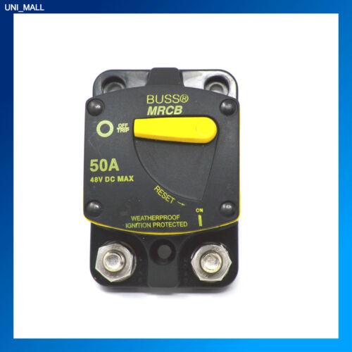 5//16-18 Stud Flush Mount BUSSMANN CB187F-50 MARINE 50 AMP Circuit Breaker