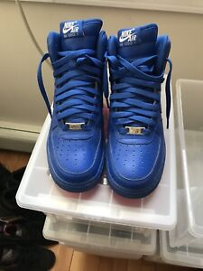 Nike Air Force 1 Blue High Hi Size 6 Custom Jordan Nike 6y Royal