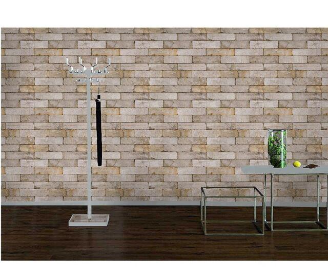 Wallpaper Bricks / Stone Wall Effect - Grey & Brown - New Rasch Luxury 203608