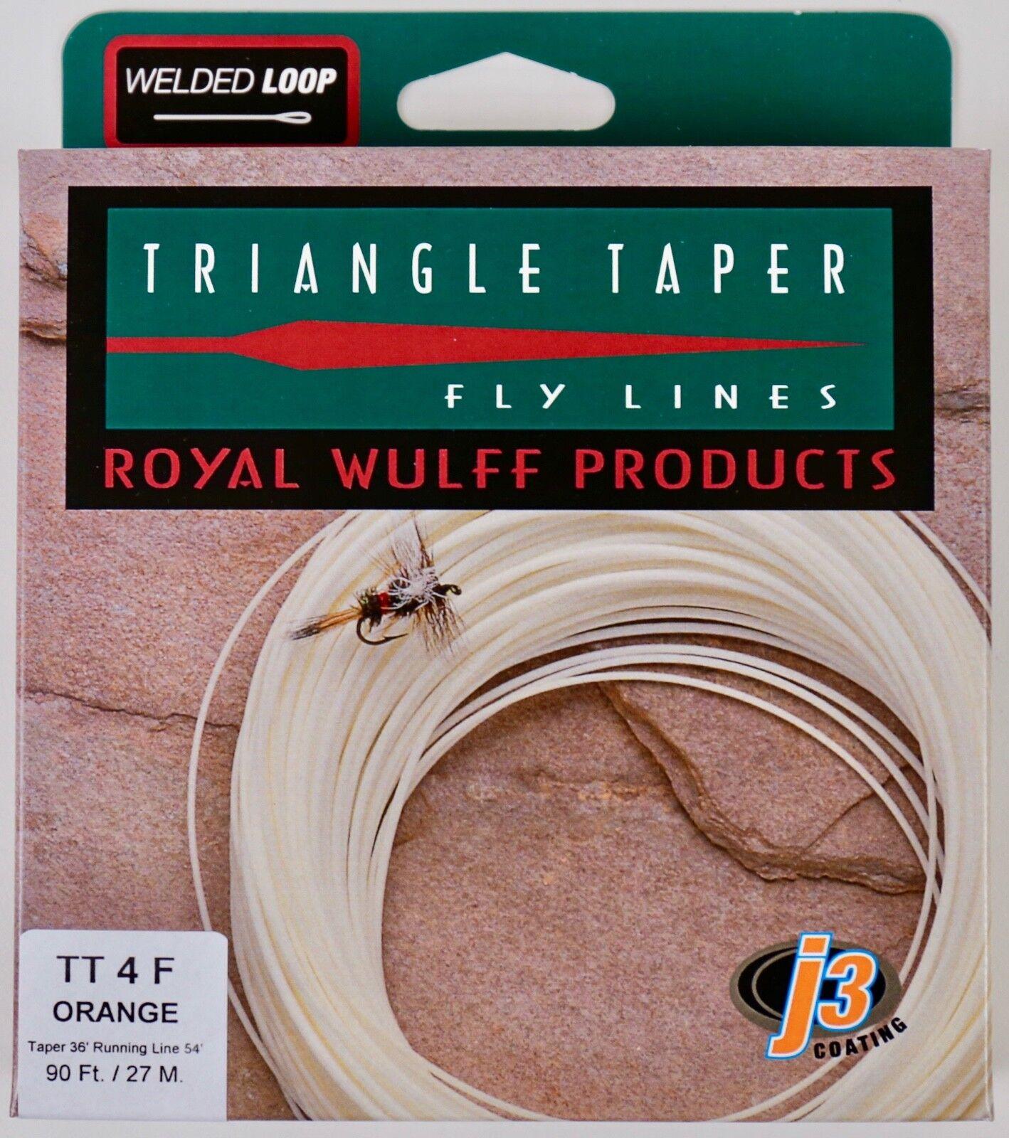Royal Wulff Triangle Taper 4 WT Floating Fly Line arancia gratuito Fast Ship TT4FO