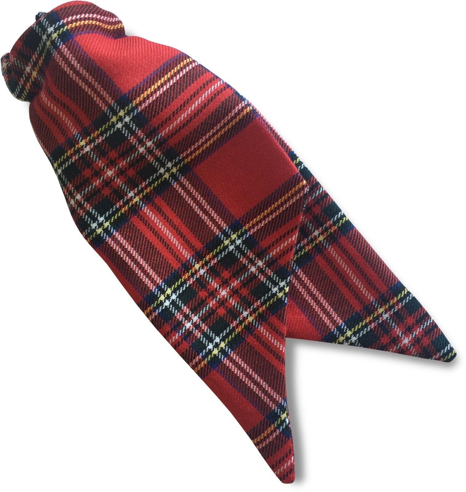 Womens Ladies Royal Stewart Tartan Security Safety Clip On Cravat Tie