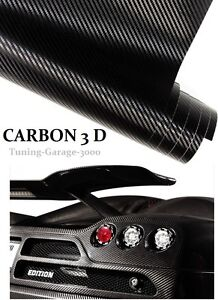 preis 16 00 m 3d autofolie carbon folie schwarz auto folie selbstklebend ebay. Black Bedroom Furniture Sets. Home Design Ideas