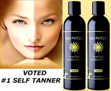LOT OF 2 TAN PHYSICS TRUE COLOR RATED #1 SUNLESS SELF TANNER TANNING LOTION