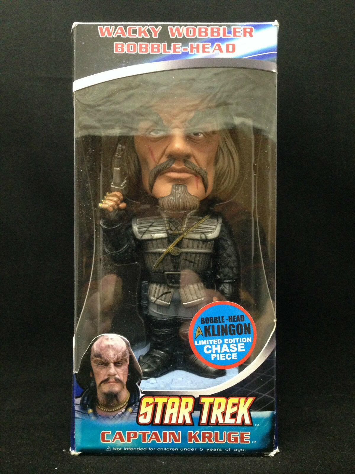 FUNKO capitán Kruge Klingon Chase Pieza Estrella Trek WACKY WOBBLER BOBBLE HEAD NUEVO