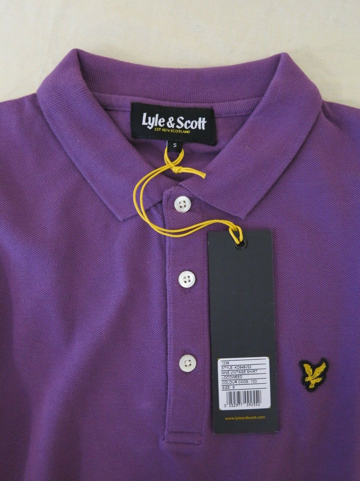 LYLE & SCOTT VINTAGE MENS SHIRT LOCOWEED lila lila lila S 36  CHEST NEW POLO | Qualitativ Hochwertiges Produkt