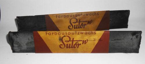 2 x Stifte Sutor W Farbausputzwachs Mertz & Co Leipzig Lederpflege schwarz
