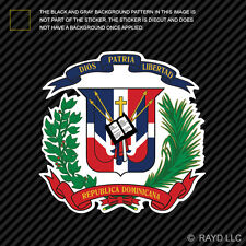 Dominican Coat of Arms Sticker Decal Vinyl Dominican Republic flag DOM DO