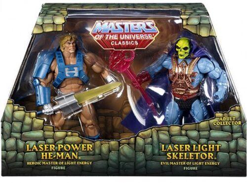 Classics laser power he-man /& Lumière Laser squelettor Action Figure 2-Pack