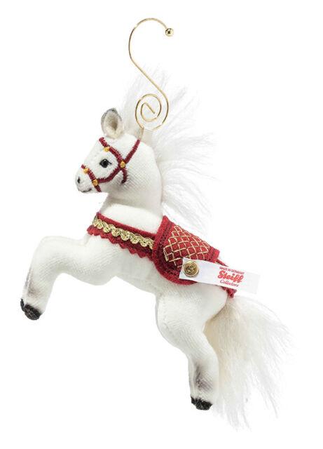 Steiff Christmas 2020 Horse Ornament - mohair limited edition - 006920