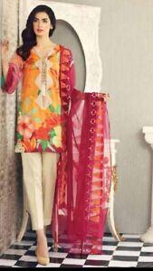 New  Pakistani unstitch 3pc lawn shalwar kameez suit