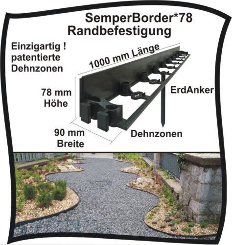 SemperBorder Randbefestigung Rasenkante Pflasterstein Randstein Rasenbord