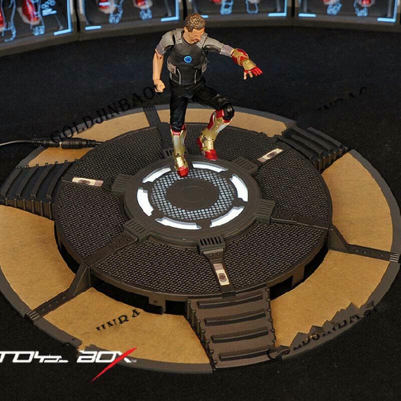 Iron Man Armor Testing atelier Figure Work stand Plate-forme échelle 1 12 Modèle NEUF
