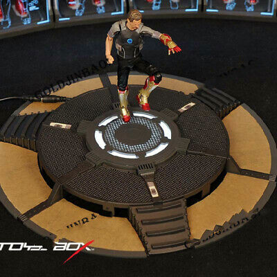 TOYSBOX 1//6 Scale Iron Man Testing Workshop Base Platform TB072 With LED