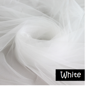 wei tutu t ll stoff netz hochzeits kleid vorhang tuch 300cm extra breit ebay. Black Bedroom Furniture Sets. Home Design Ideas