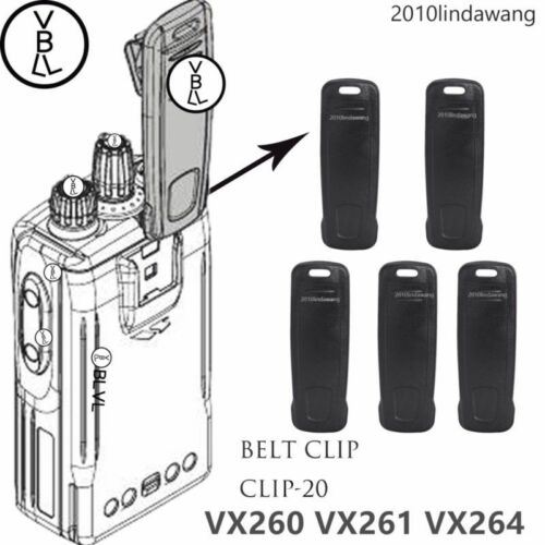 5x CLIP-20 Belt Clip for Vertex Standard VX261 VX260 VX264 Portable Radio