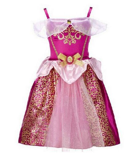 Princess Dress Fancy Costume Girls Party Kids Cosplay Frozen Christmas UK