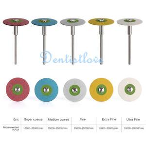 Dental Rubber Diamond HP Polisher Wheel Disc 26mm For Porcelain/Zirconia Repair