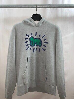 KEITH HARING x UNIQLO MoMA NY Art Hoodie Sweatshirt Medium M Gray /'Radiant Baby/'