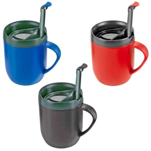 3 x Zyliss Smart CAFE una tazza caffè tazza infusiera CALDO BLU ROSSO E NERO